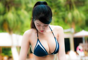 asian, girl, sweet, cute, bikini, boobs, tits, busty, big tits, cleavage, non nude, gorgeous