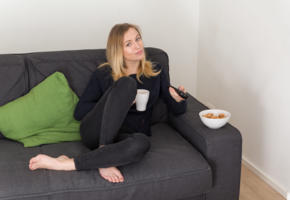 aislin, blonde, babe, couch, jeans
