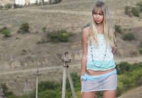 alicia, blonde, see through, non nude, outdoors