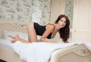 niemira, brunette, bed, tanned, non nude, hot