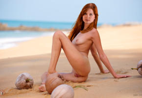 bonnie wright, fake, celebrity fake, nude, bu-ra-ti-no, beach, tits, pussy, labia, coconut, tanned, redhead