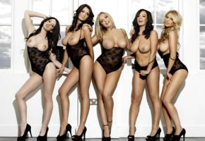 black lingerie, topless, girls, lingerie, boobs, big tits, nipples, legs, heels, kitty lea, peta todd, iga wyrwal, lindsey strutt, emily ohara