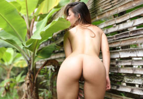 abella, abella jade, sexy, colombian, babe, nude, exotic, latina, outdoors, shaved, ass, pussy, labia, back, tanned, hot