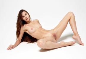 leona mia, leona a, model, brunette, long hair, pretty, tits, open legs, pussy, shaved  pussy, labia, anus, legs, graceful feet, nude
