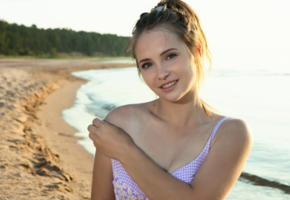lit, beach, adorable, teen, cutie, sea, swimsuit