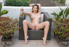 dominika jule, lovely, shaved, oil, body, beautiful, erotic, shaved pussy, boobs, tits, nude, spreading legs, sitting