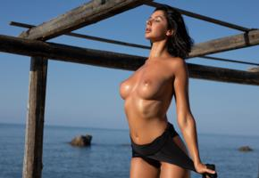 boobs, tanned, brunette, big boobs, topless, big tits, nipples, wet, oiled, unknown