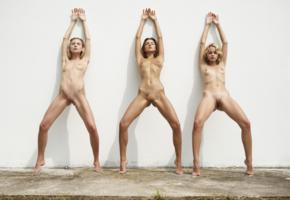 marika, maria ryabushkina, ariel, wall, naked, boobs, tits, nipples, shaved pussies, labias, spread legs, tattoo, ultra hi-q