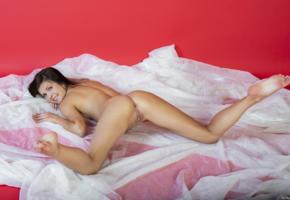zelda b, zelda, arina b, tania r, naked, hot, model, sexy, pussy, shaved pussy, smile, legs, brunette, boobs, tits, hi-q, sweet, feet, spreading legs