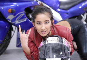 darcia lee, model, girl, brunette, pretty, sexy, helmet, non nude, bike, motorcycle