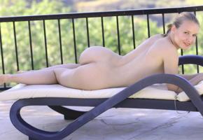 lucretia, smile, ass, nude