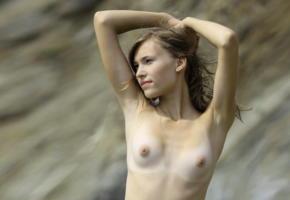 lily clauson, cutie, nude, tan lines, beach, tits, boobs, nipples