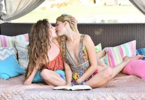 kenna james, elena koshka, lesbian, kissing, kiss