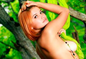 violla a, boobs, sexy, 4k, redhead, tanned, big tits, nipples, beads