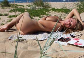 violla b, nude, sexy, 4k, boobs, big tits, tanned, beach, sea, ass