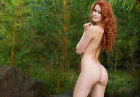 adel c, nude, sexy, 4k, ass, redhead, smile, back, heidi romanova, vanessa, heidi r