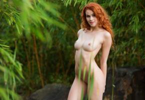 adel c, nude, sexy, 4k, boobs, tits, nipples, redhead, smile, shaved pussy, heidi romanova, vanessa, heidi r