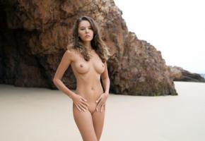 katya clover, clover, mango, caramel, mango a, brunette, beach, tanned, naked, boobs, tits, nipples, shaved pussy, hi-q