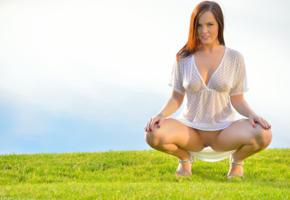 hi-q, boobs, brunette, see through, large breasts, tits, spread legs, aubrey addison
