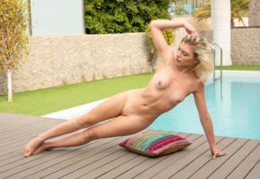 leaya, blonde, pool, naked, boobs, tits, nipples, shaved pussy, ultra hi-q, lesya