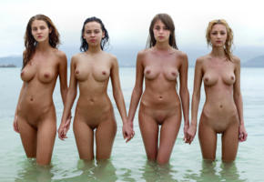 pussy, labia, shaved pussy, boobs, tits, big tits, nipples, natural, beach, brunette, shaved, young, wet, four girls, ivette blanche, linda l, angelica, yulia brichkovskaya, paulina, anna aj, anna s, 4 girls, four, tanned, nude, sea