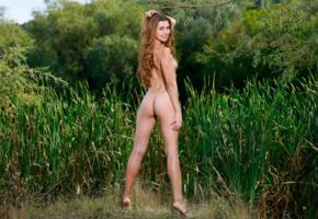 polina kadynskaya, redhead, long hair, outdoor, nude, ass, tanned, tits, smile, georgia, susza k, viva