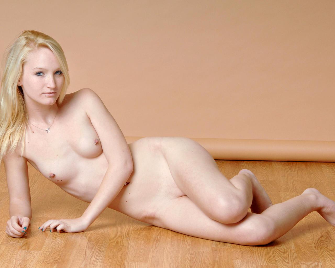 Blonde adult model emma
