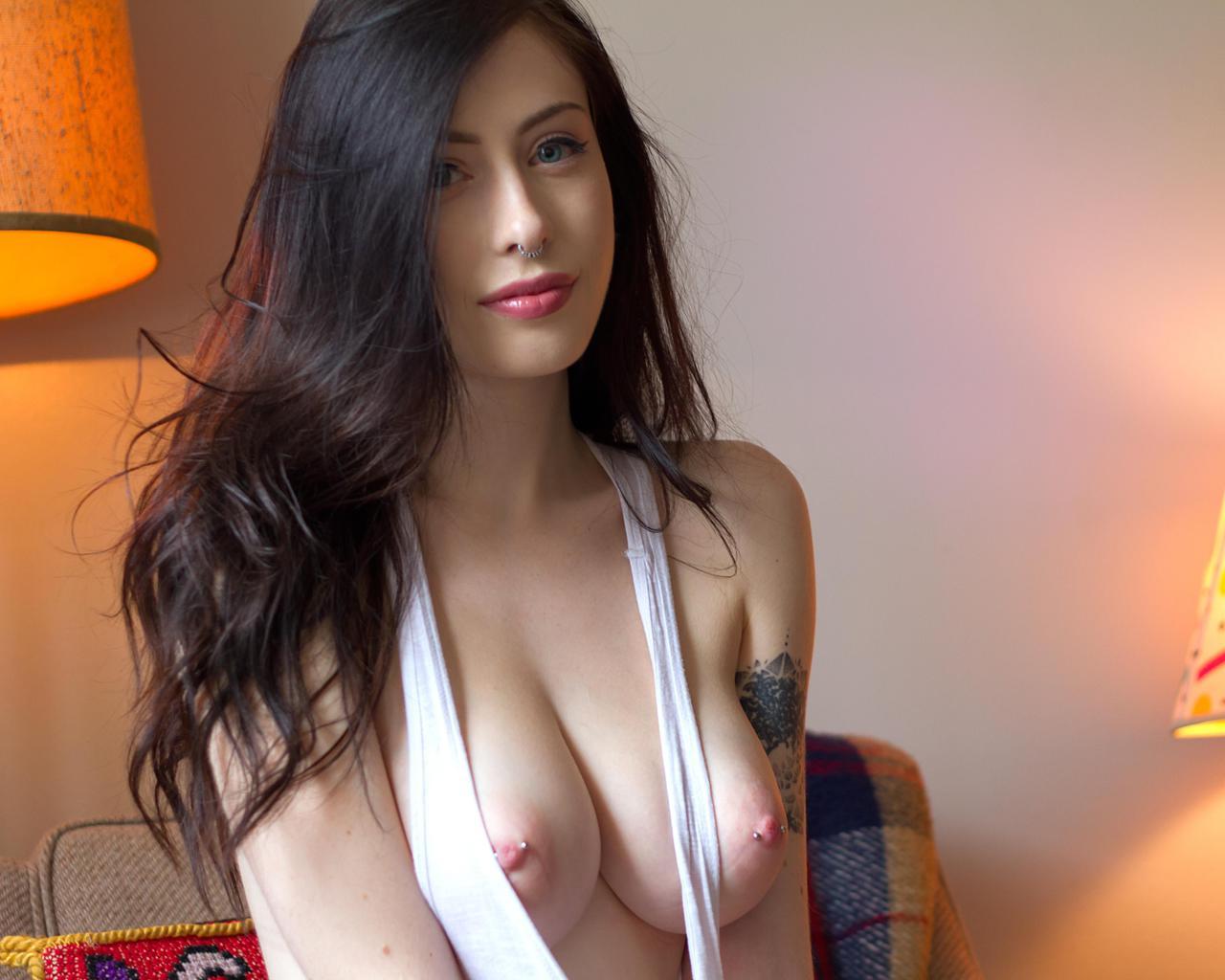 Big tits pierced nipples blonde milf 6