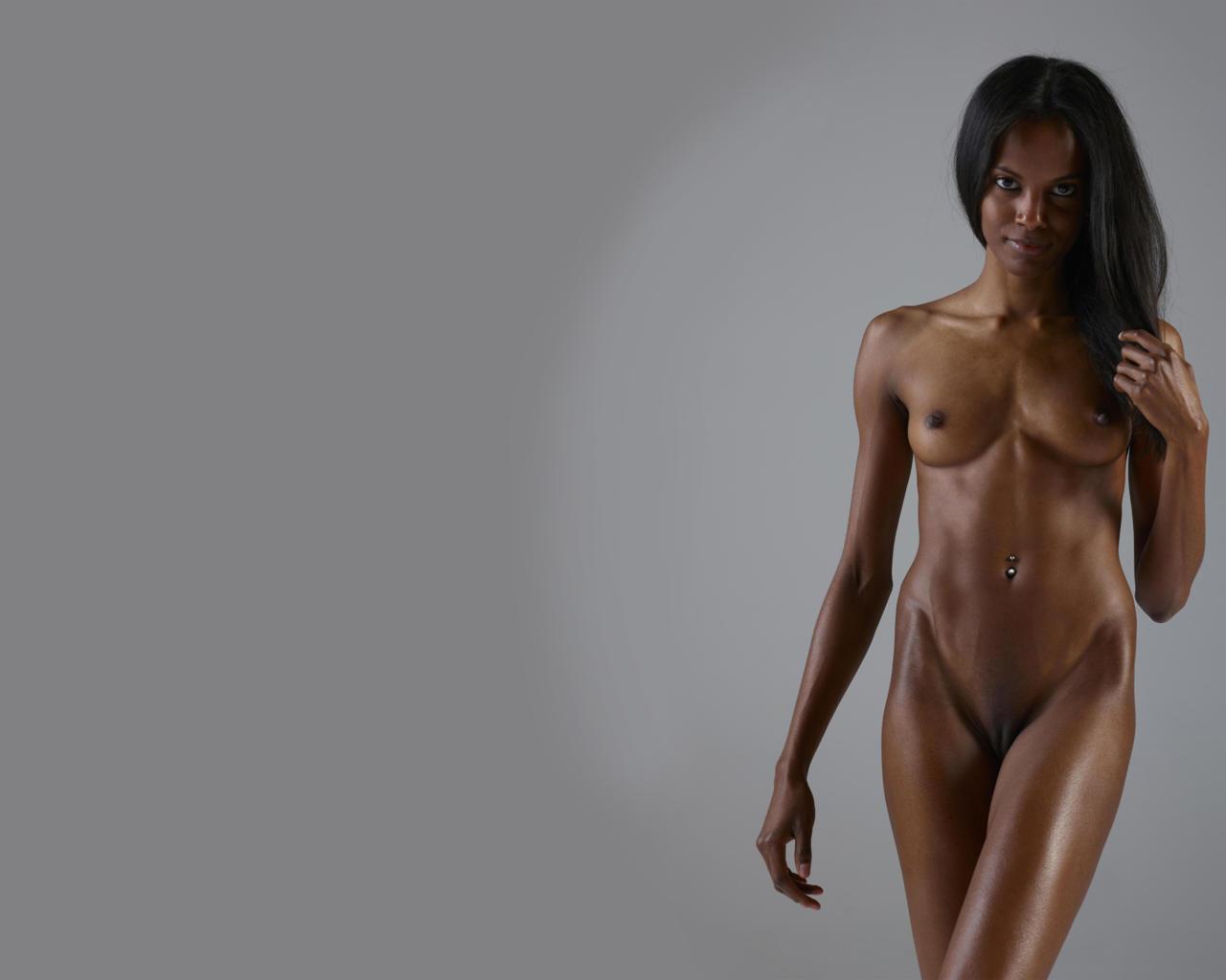 Download photo 1280x1024, sexy, black, girl, tits ...