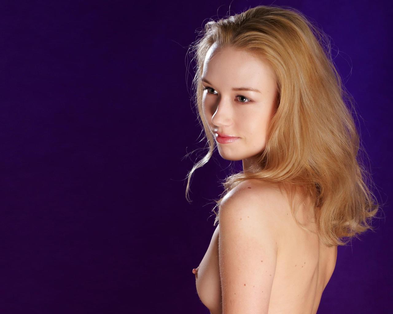 Busty British blonde Danielle Mason shows off her great
