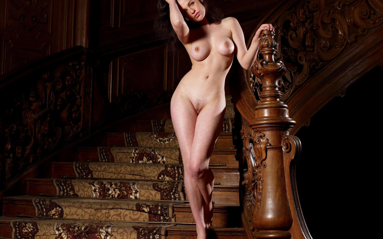 trimmed stairs staircase trimmed pussy boobs tits   id 171157