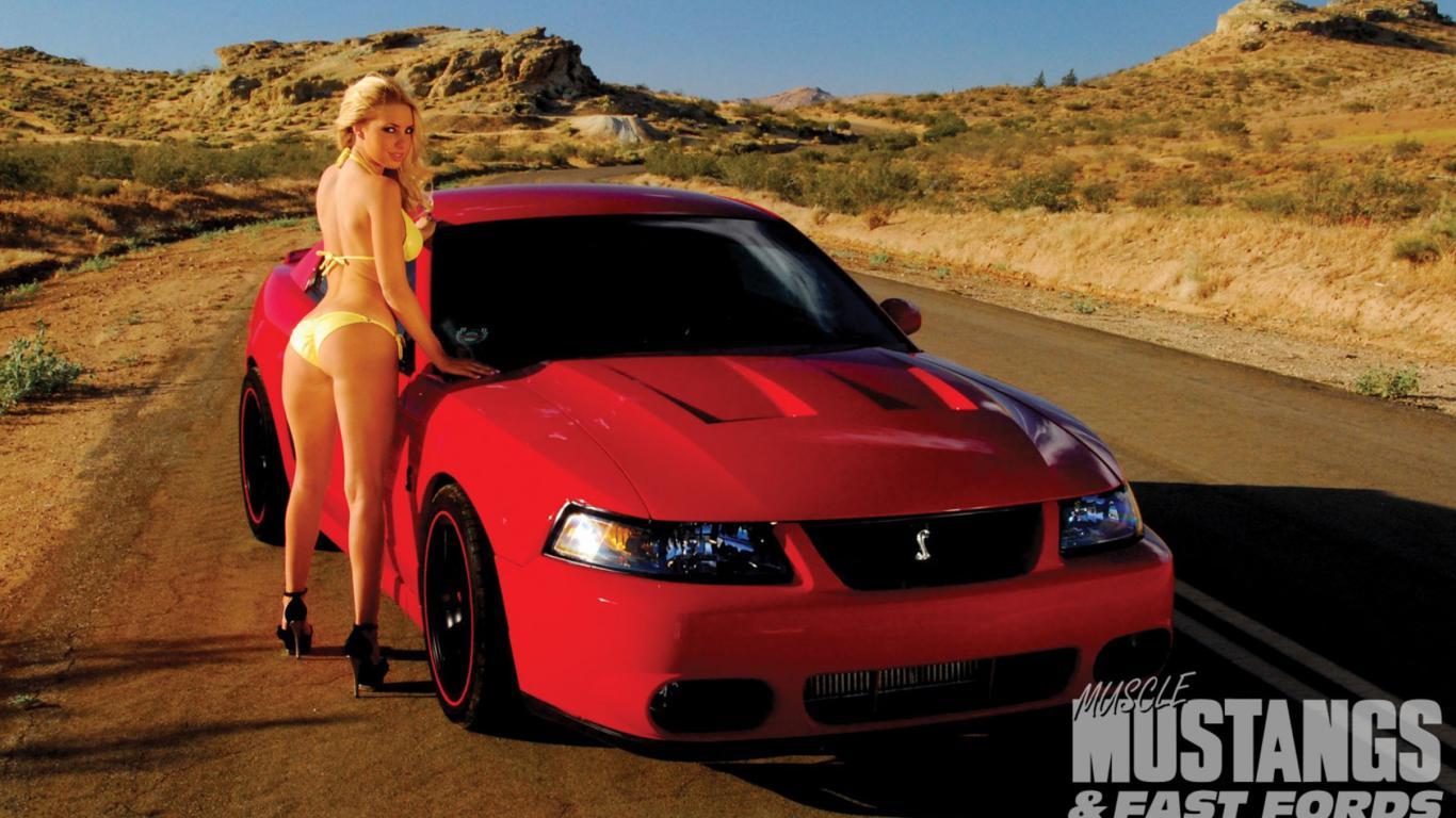 download photo 1366x768 ford bikini model sexy car. Black Bedroom Furniture Sets. Home Design Ideas