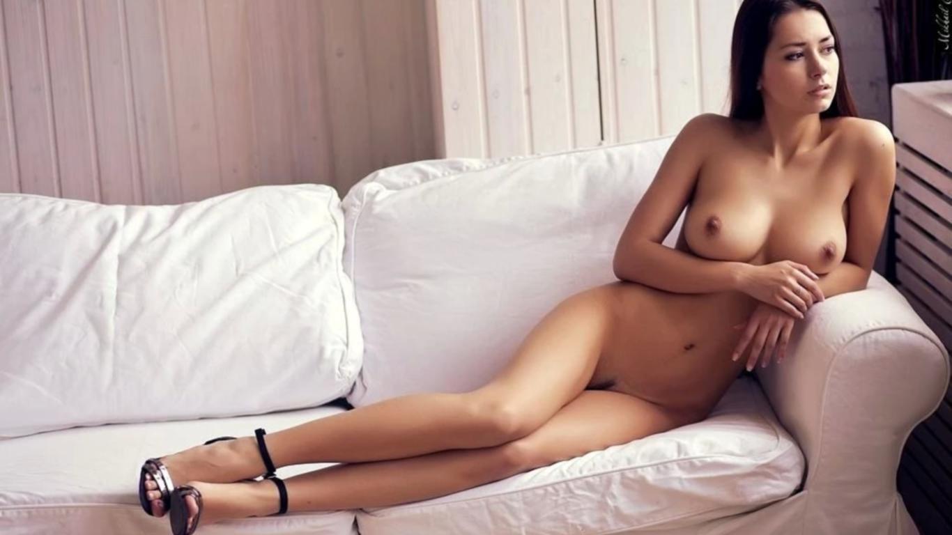 Download photo 1366x768, helga lovekaty, nude, brunette ...