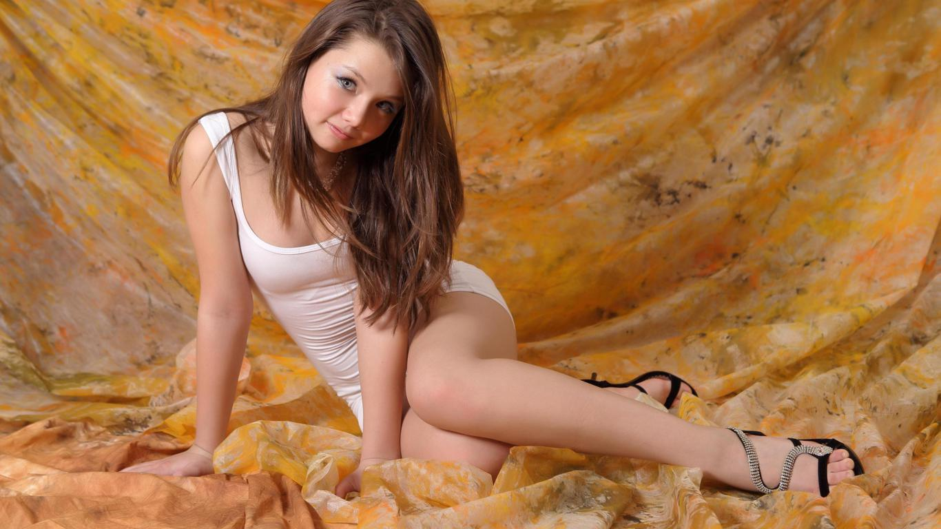 image Cute teen in white stockings i will catch