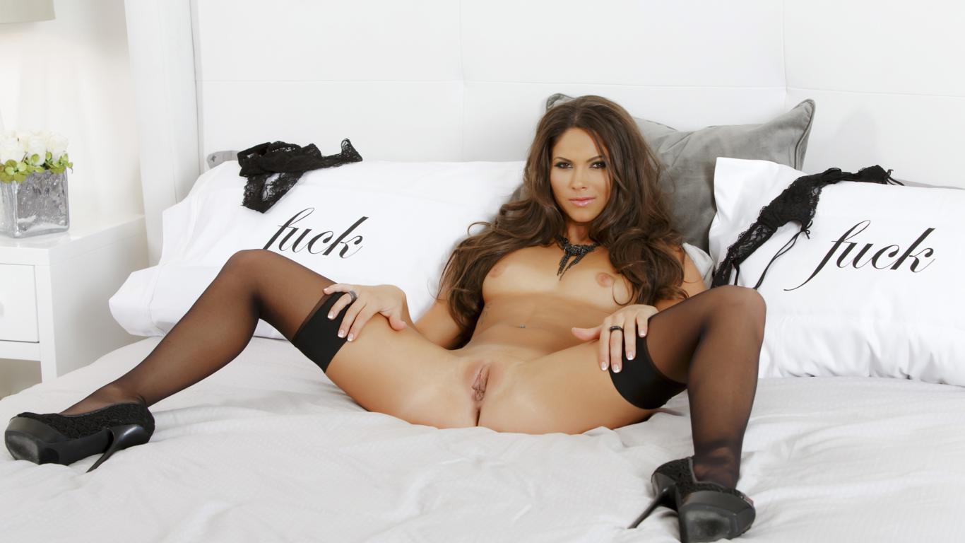 Sexy Stocking Legs Spread