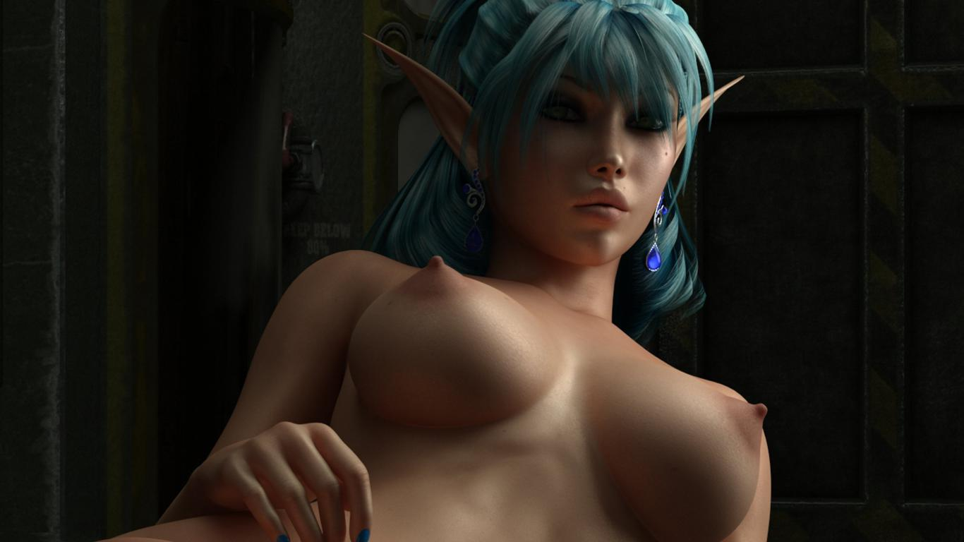 3d blue haired elf nude pictures sexy clip