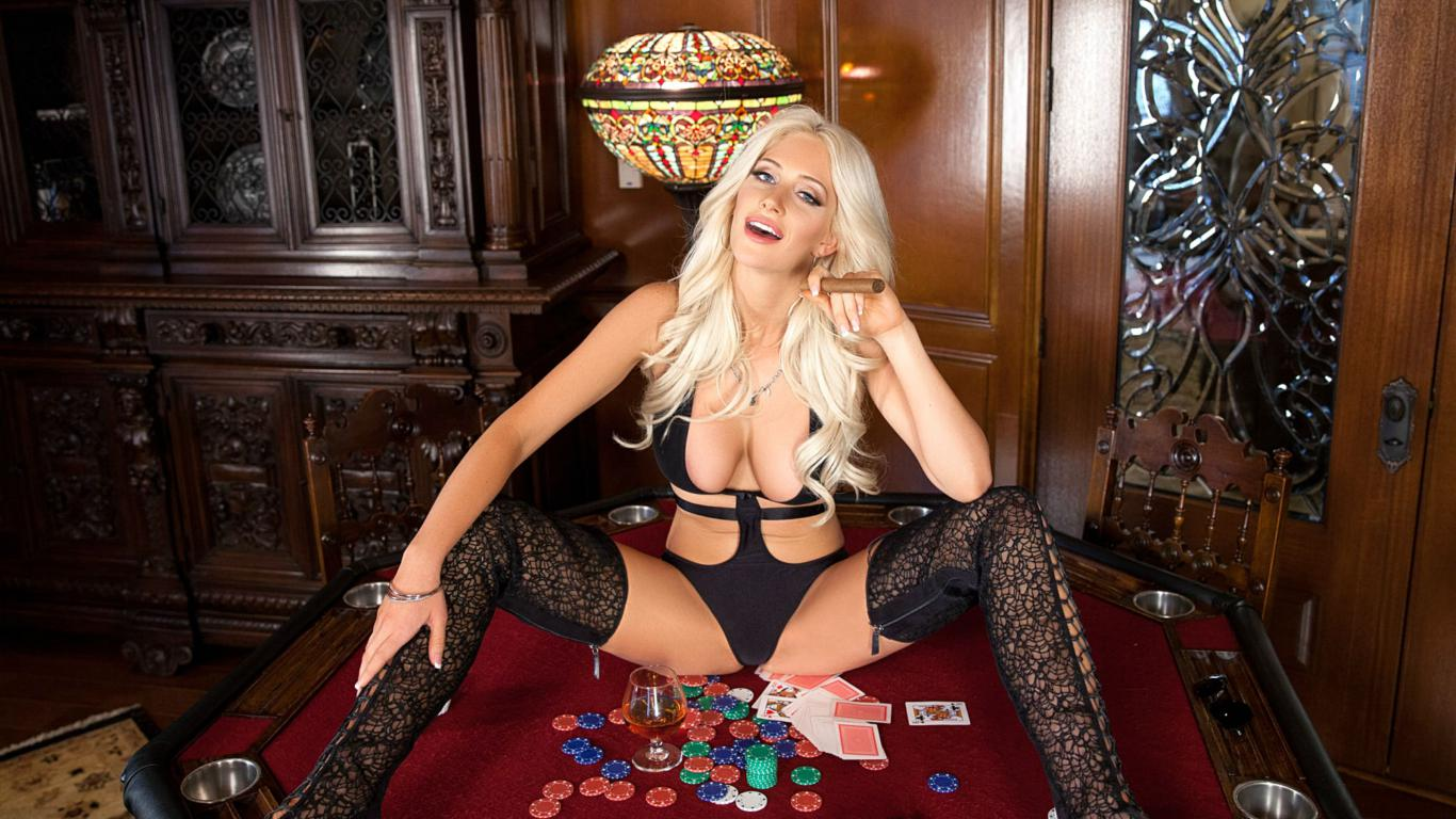 Blonde lady on table katie calloway