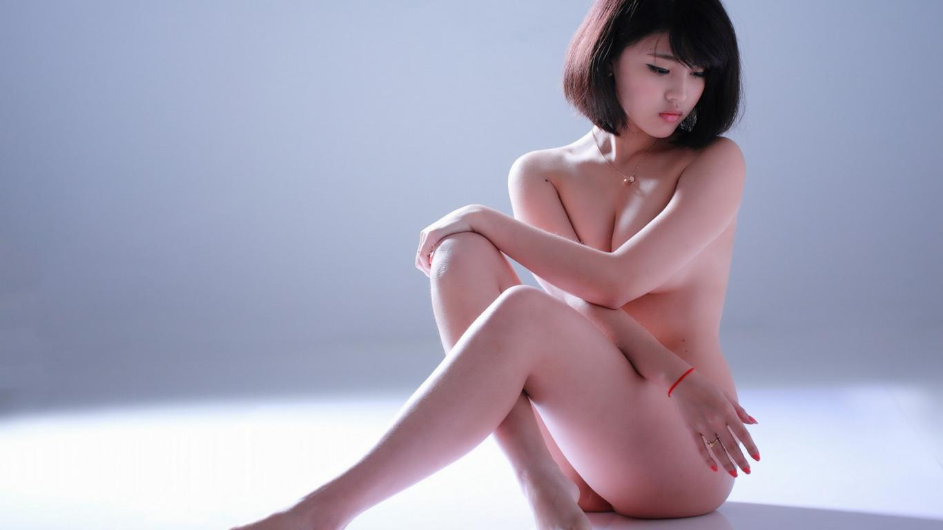 download photo 1366x768 girl asian nude naked cute