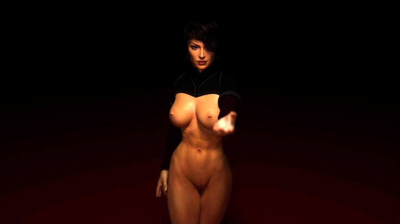 Download photo 1366x768, 3d, quix, unar, boobs, naked, hot ...