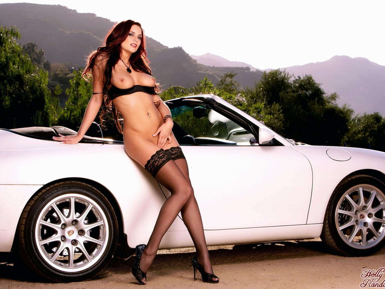 Sexy nude girls and cars