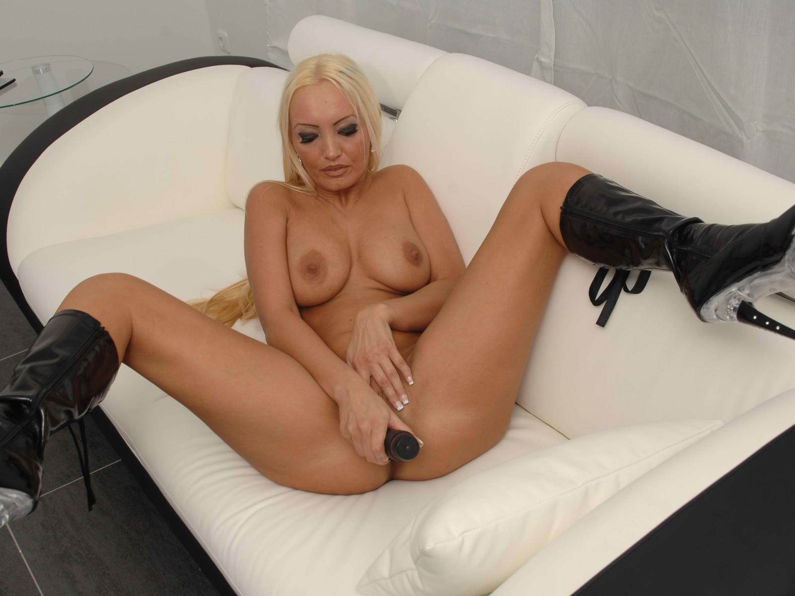 Blonde Milf Strip Tease