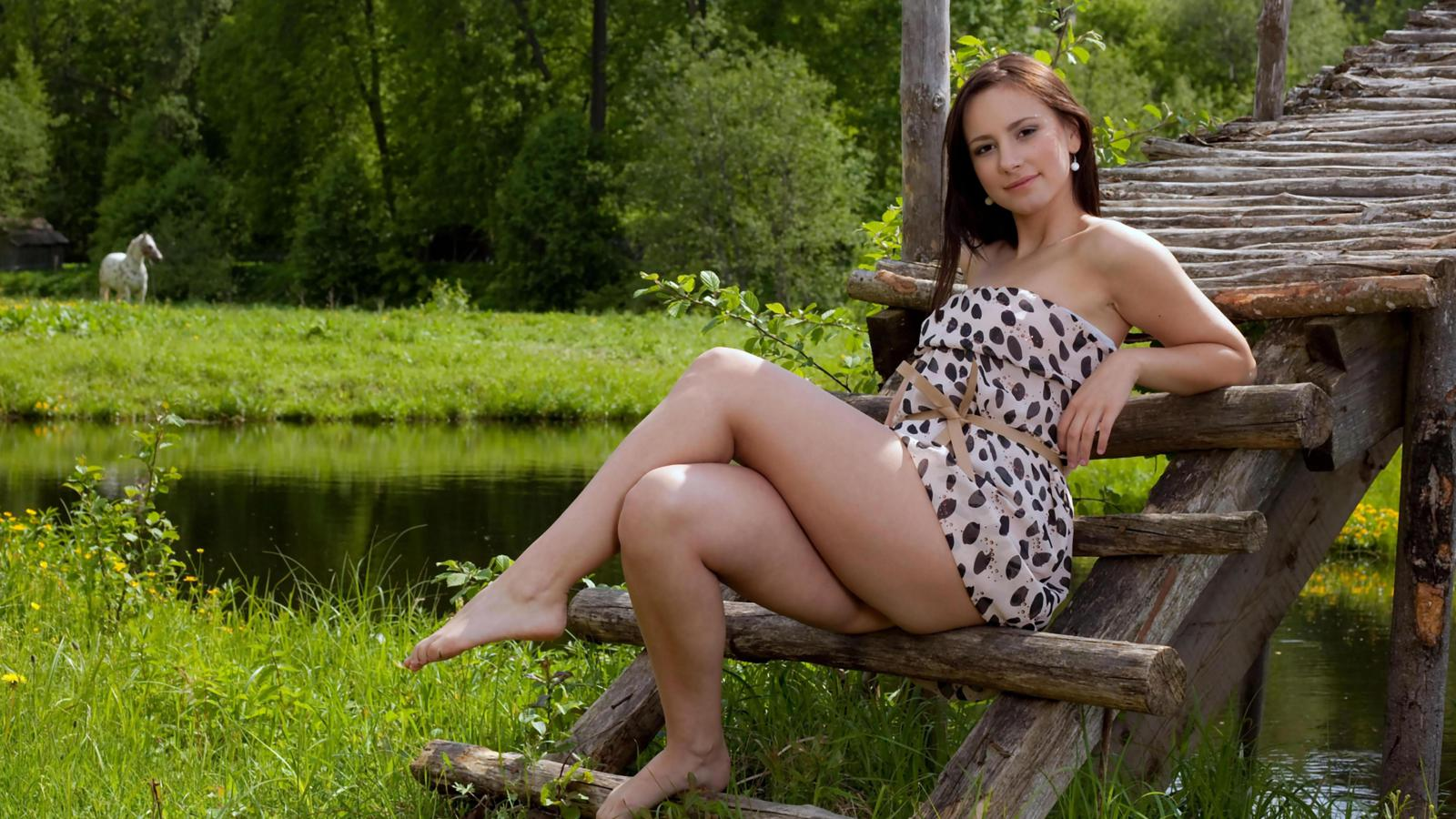 Download photo 1600x900, rosalin, sexy lady, nude, naked