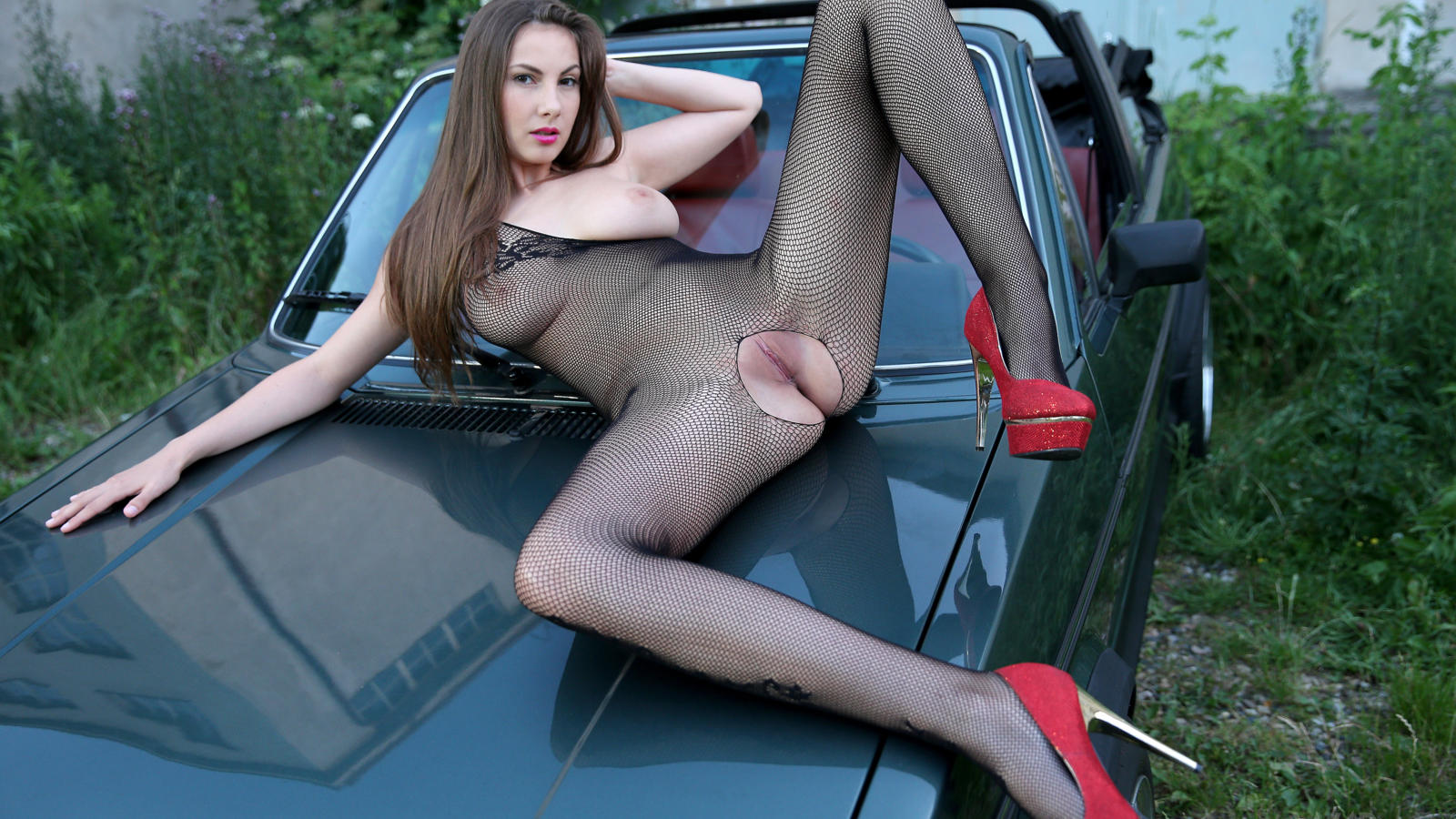 anna kolarova, conny carter, josephine, model, brunette, tits, legs, pussy, labia, sexy, hot, car, naked, conny, connie carter