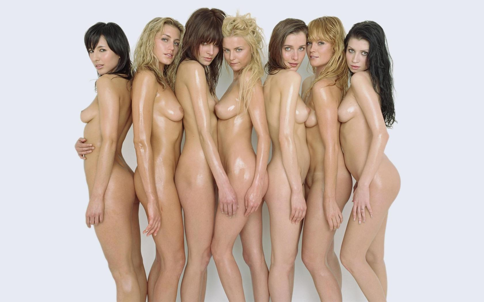 a group of naked women