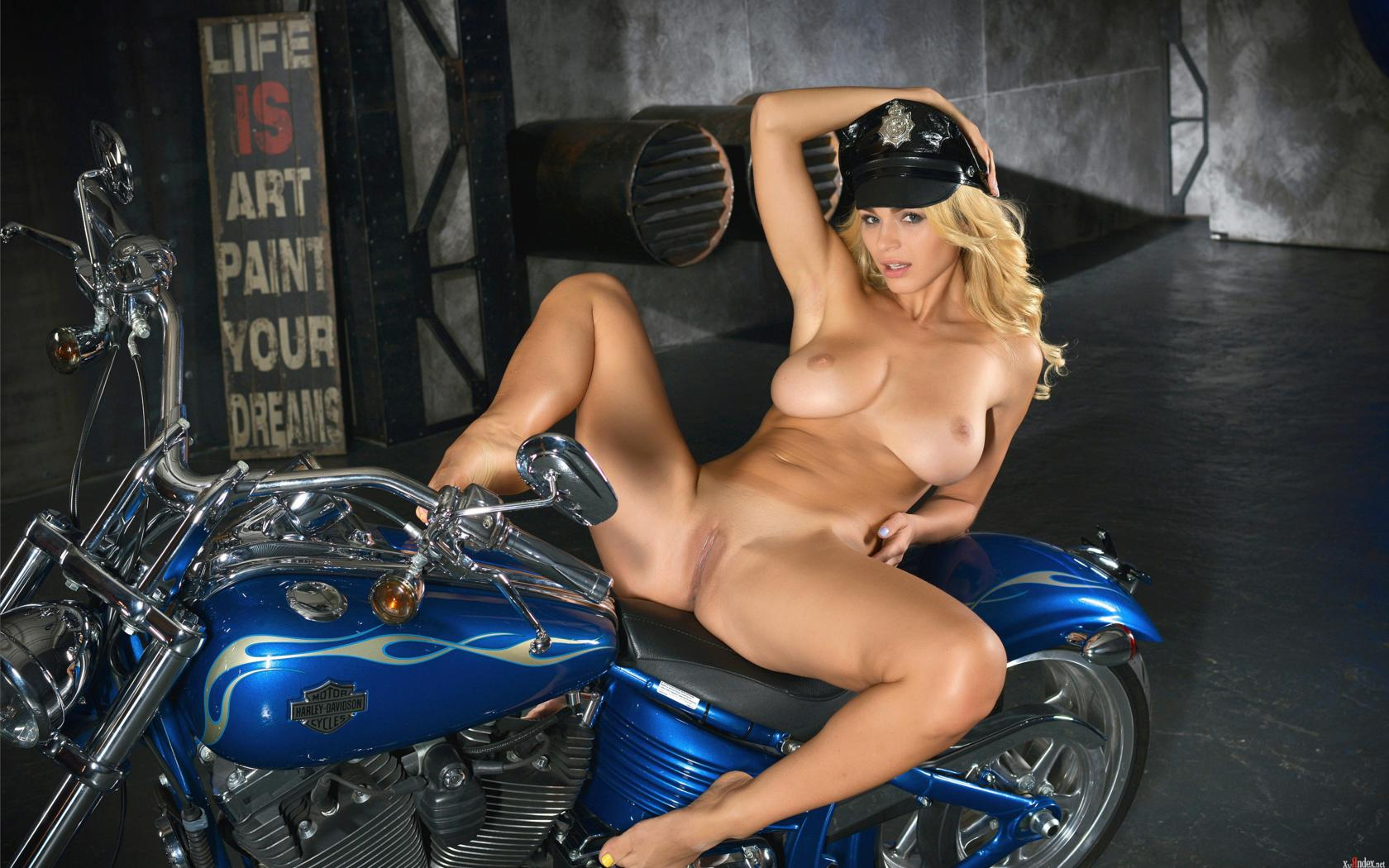 The Girls nude on bikes spread are