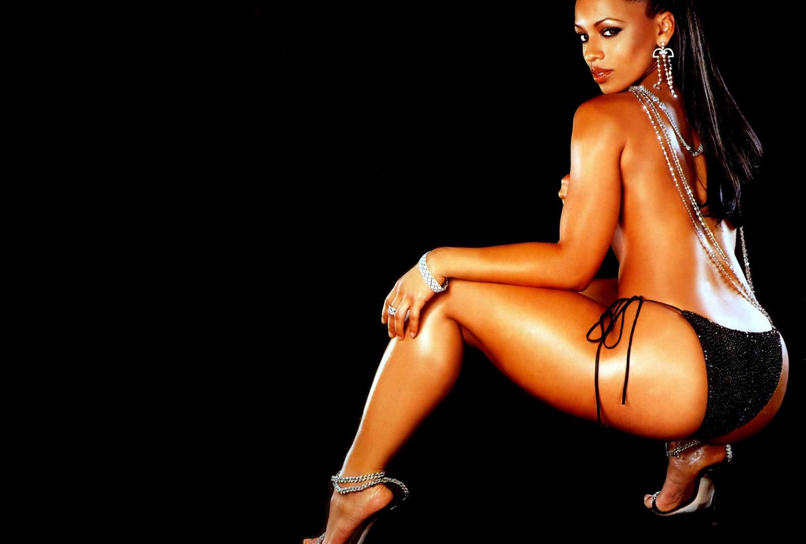 Download photo 1920x1080, brunette, ass, lingerie, black ...