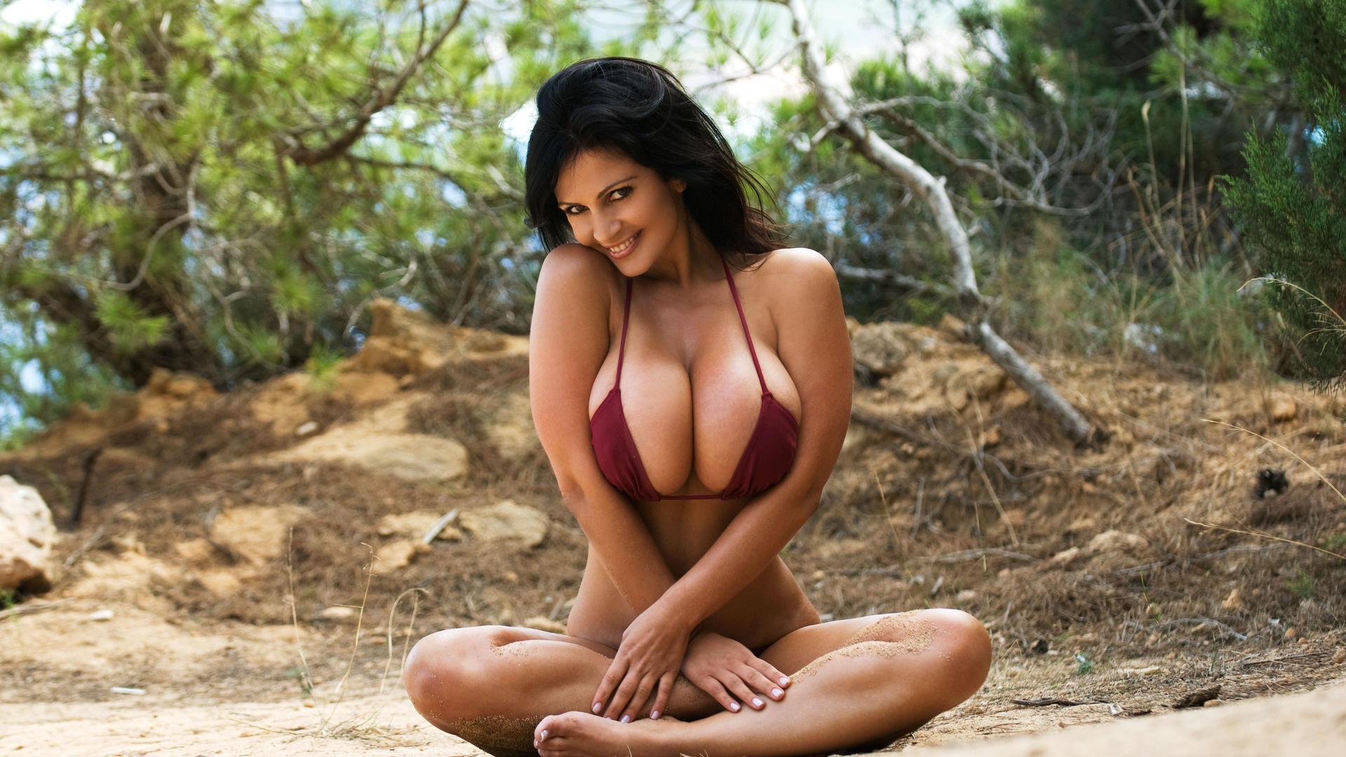Download photo 1920x1080, denise milani, big boobs ...