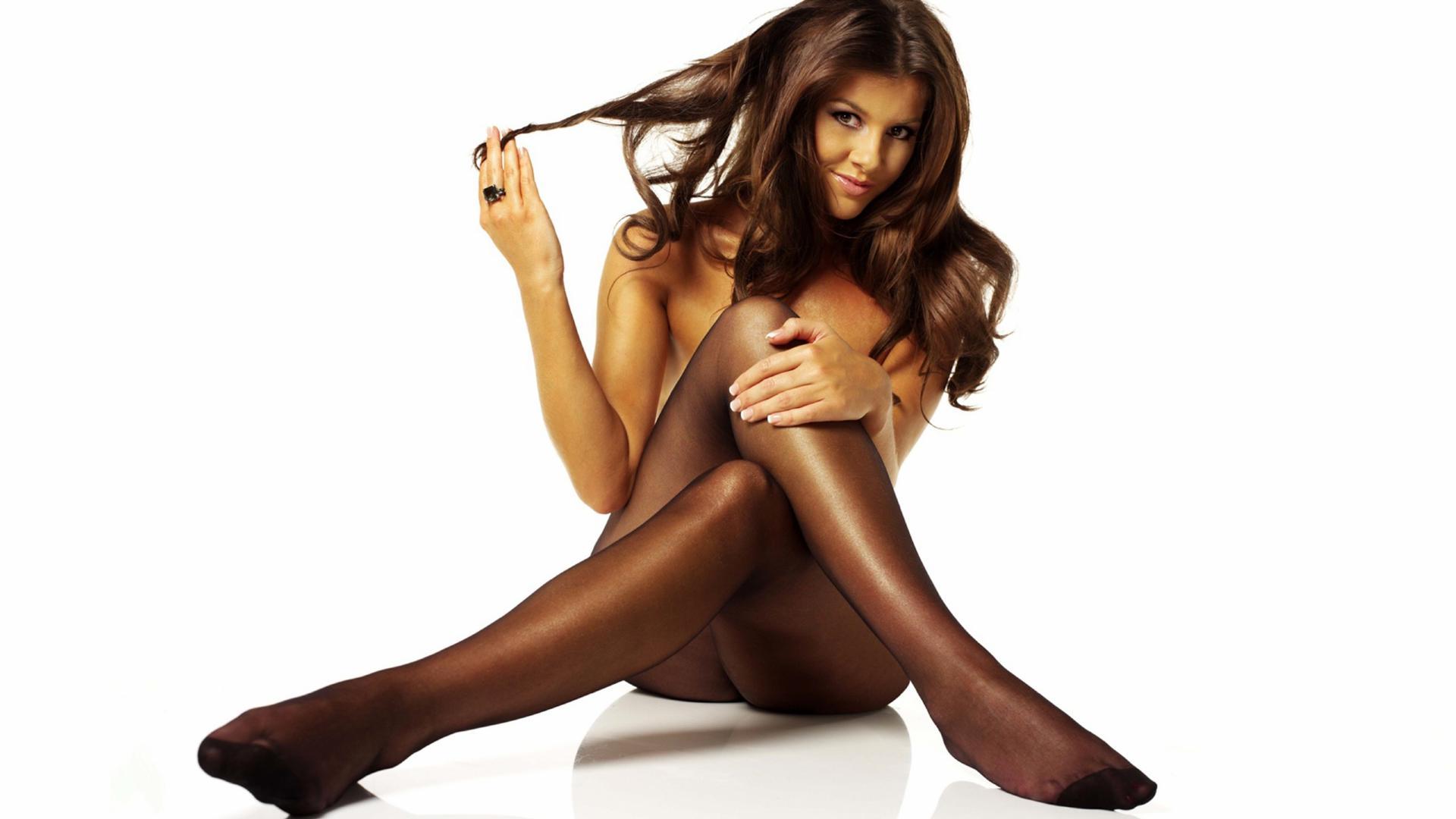 download photo 1920x1080 bru te sexy girl lingerie pantyhose