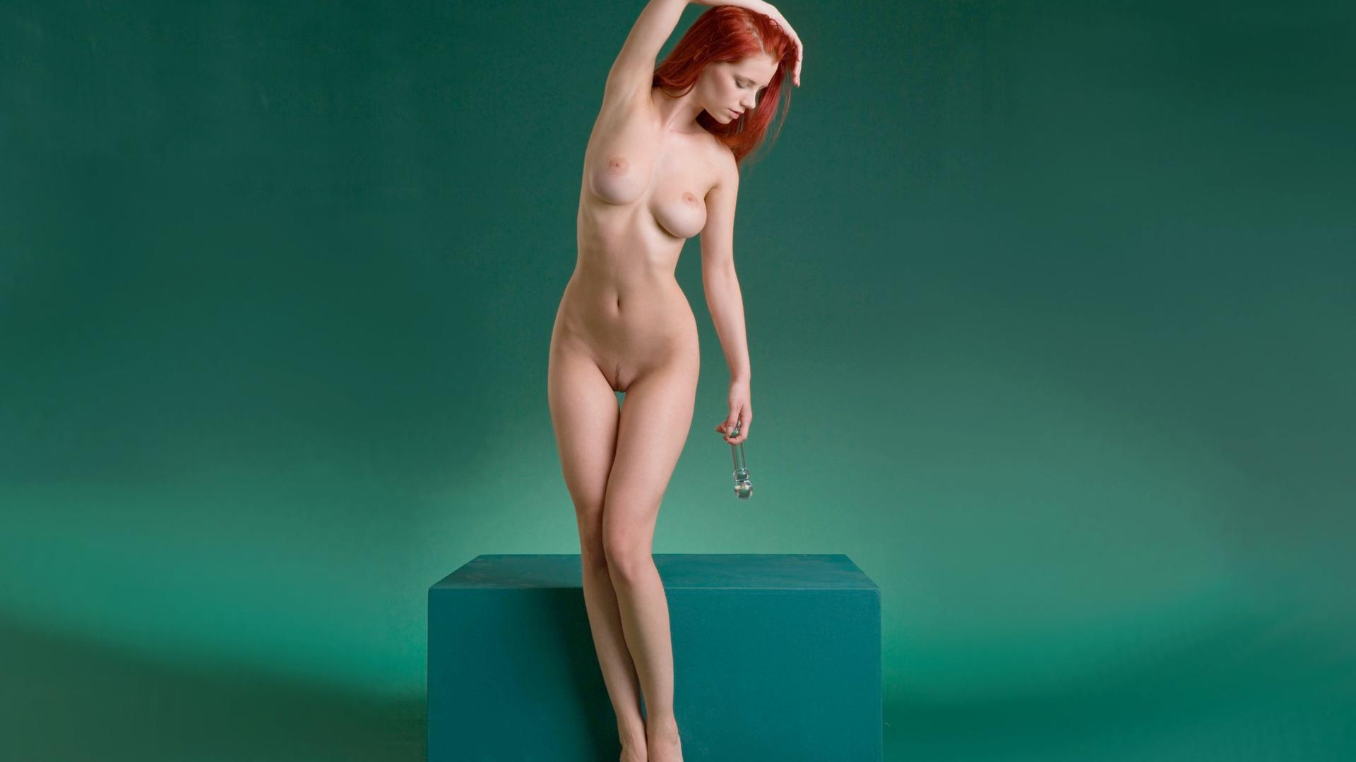 Download photo 1920x1080, ariel, red hair, nude, naked ...