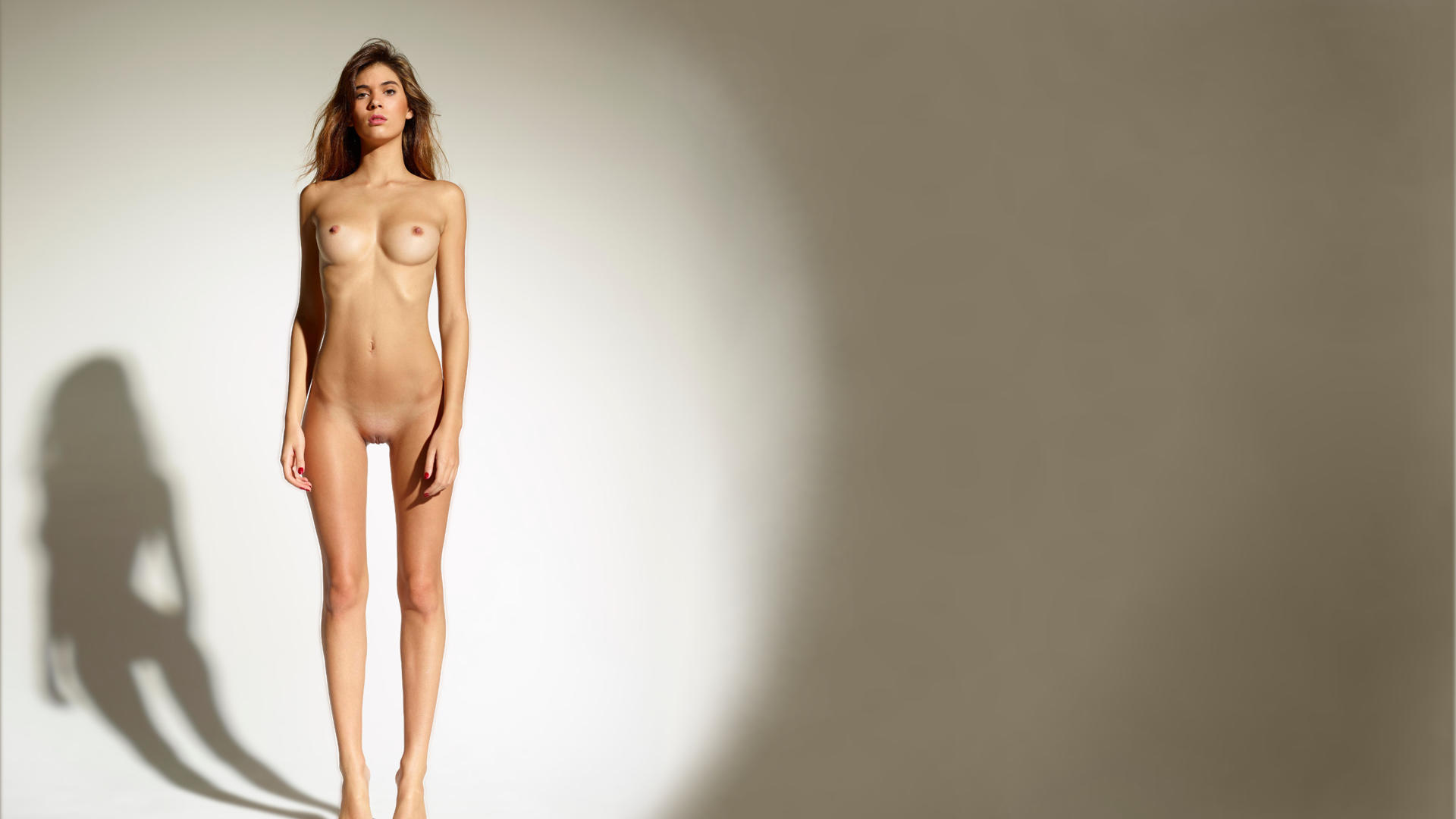 Hairy blonde naked woman